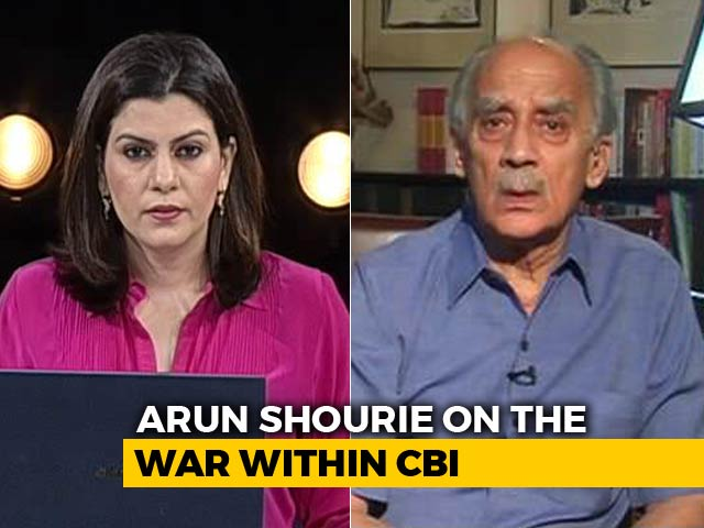 Video : Arun Shourie: What Should We Do If Centre Upset With CBI Director For Meeting Us?