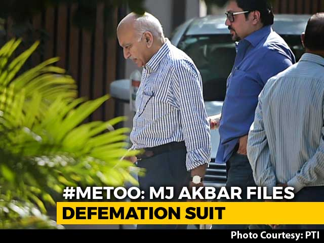 Video : Minister MJ Akbar Sues Journalist For Defamation Over #MeToo Allegations