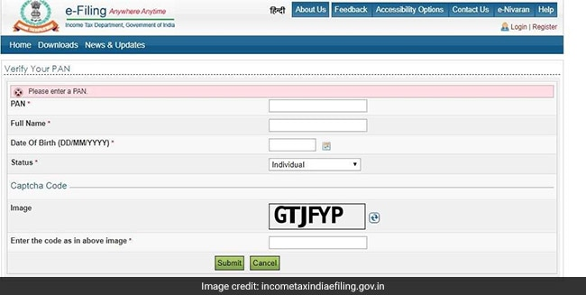 PAN card, Income Tax website, Income Tax Department website, PAN number, PAN card number, PAN Income Tax, Income Tax E-Filing
