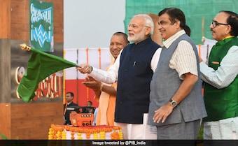 PM Modi Unveils Varanasi Port, Receives India's First Inland Cargo Vessel