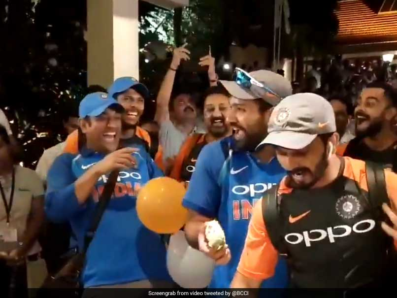 Team India Celebrate Their Series Win Over Windies. Watch Video