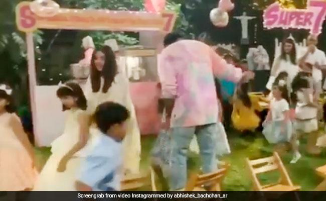 आराध्या बच्चन के जन्मदिन पर म्यूजिकल चेयर रेस खेलती दिखीं ऐश्वर्या राय, अभिषेक ने लगाए ठुमके; देखें Video