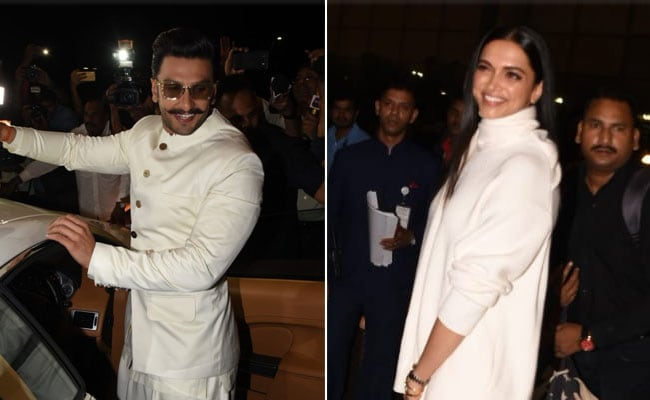 Deepika Padukone And Ranveer Singh, Twinning In White, Leave For Their Wedding. See Pics
