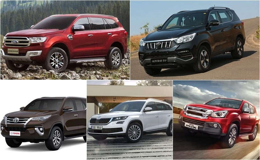 Mahindra Alturas G4 vs Toyota Fortuner vs Ford Endeavour vs Skoda