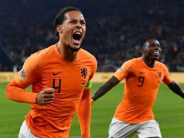 Virgil Van Dijk Late Strike Fires Netherlands Into Nations League Semis