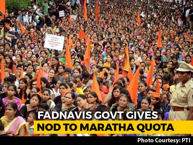 Video : Months After Massive Protest, Marathas To Get Reservation In Maharashtra