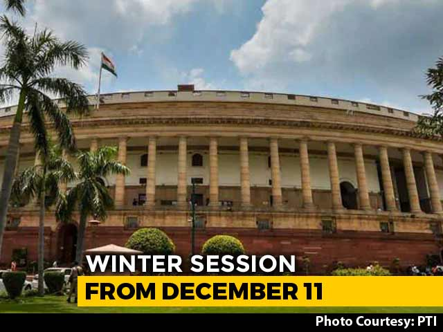 Video : Winter Session Of Parliament To Be Held From December 11 To January 8