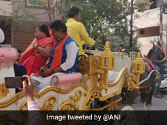 Madhya Pradesh Polls: BJP Leader Comes Out To Vote On A Horse Chariot