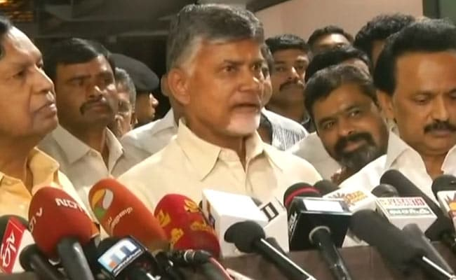 Congress Main Anchor Of Opposition Unity Against BJP: Chandrababu Naidu