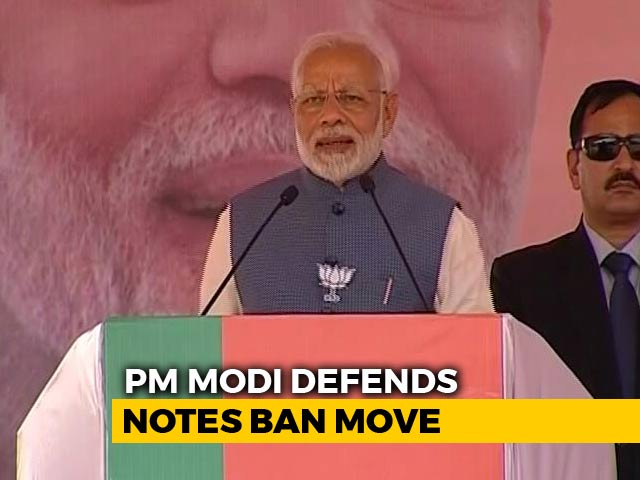 Video : Congress Alone Weeping Over Notes Ban Even After 2 Years: PM Modi