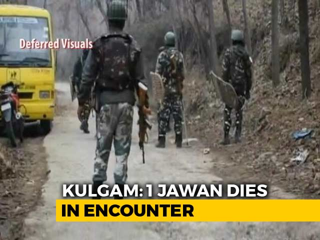 Video : Soldier Killed, 3 Terrorists Shot Dead In Fierce Encounter In Kashmir