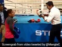 Minister Rajyavardhan Rathore Challenged Mary Kom To A Bout. See Who Won