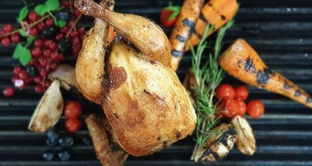 Roasted Spring Chicken with Root Veggies