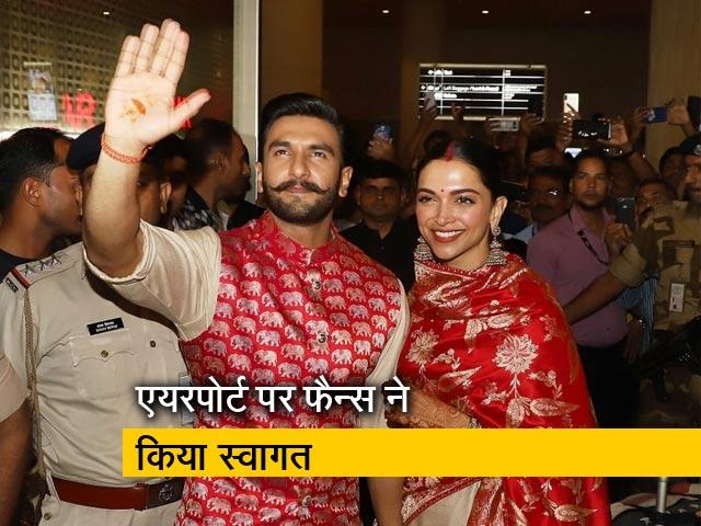 Videos : इटली से मुंबई लौटे दीपिका और रणवीर सिंह