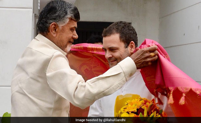 Back From Lucknow, Chandrababu Naidu Meets Rahul Gandhi Again Today