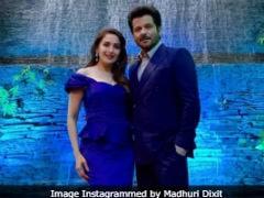 <i>Mowgli</i> Premiere: Madhuri Dixit And Anil Kapoor - Nisha And Baloo - Showed Up In Matching Blue