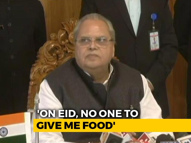 "Video : ""On Eid, No One To Give Me Food"": Governor On Mehbooba Mufti ""Fax"" Charge"