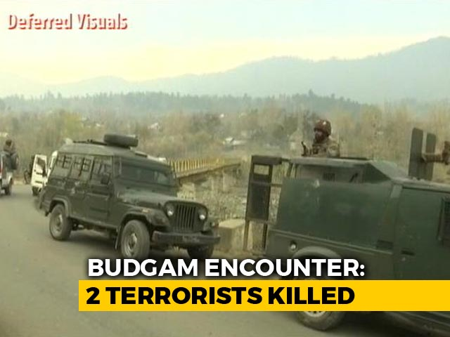 Video : 2 Terrorists Shot Dead In Jammu And Kashmir's Budgam