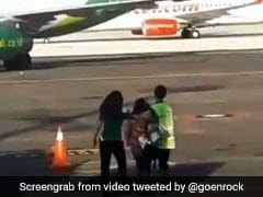 Viral Video: Woman Tries To Chase Down Plane After Missing Her Flight