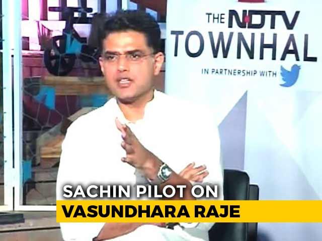 She Stood Up To Amit Shah: Sachin Pilot Praises Rival Vasundhara Raje