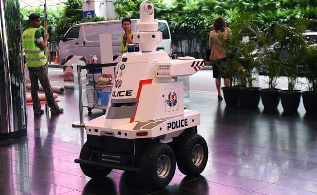 'Robocop' On Patrol At East Asia Summit In Singapore