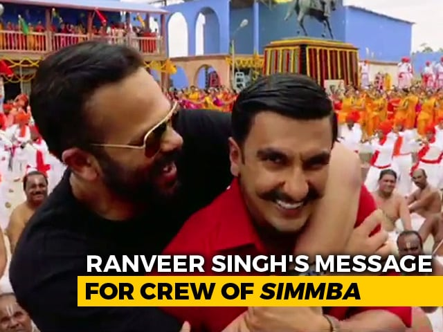 Watch! Ranveer Singh's Heartfelt Speech For The Crew Of Simmba