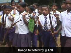 Children Of This Jharkhand Village Carry Bows-And-Arrows To School