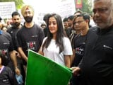 Video: Raima Sen Flags Off 2.5km Walkathon In Kolkata