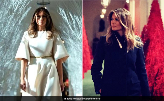 melania trumps christmas decorations are too spooky for twitter again