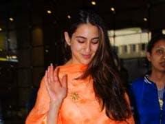 Sara Ali Khan Wears An Elegant Orange <i>Dupatta</i> And Gives Us Some Festive Fashion Goals