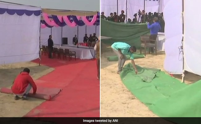 Row Over Red Carpet Laid Out For Amarinder Singh Visiting Blast Site