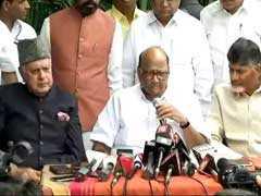 """Common Minimum Agenda"" By Non-BJP Parties Against Centre: Sharad Pawar"