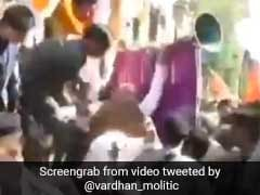 BJP Chief Amit Shah Falls During Madhya Pradesh Roadshow, Escapes Unhurt