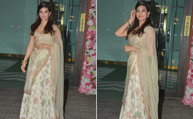 Add A Desi Twist This Season With 3 Floral <i>Lehengas</i> Like Jacqueline Fernandez