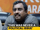 Video : Ram Temple Delay Making Hindu Community Anxious, Says BJP's Ram Madhav