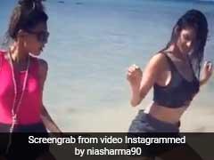 निया शर्मा ने बीच पर दिखाए बिंदास डांस मूव्ज, Video से मचाया तहलका...