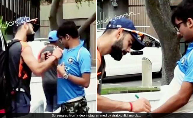 Virat Kohli के सामने फैन ने किया कुछ ऐसा, हंसने पर मजबूर हो गए कप्तान, देखें VIDEO