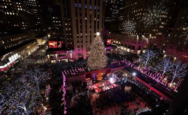 72 Feet Christmas Tree Lit At Rockefeller Centre In New York