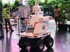 """Robocop"" On Patrol At East Asia Summit In Singapore"