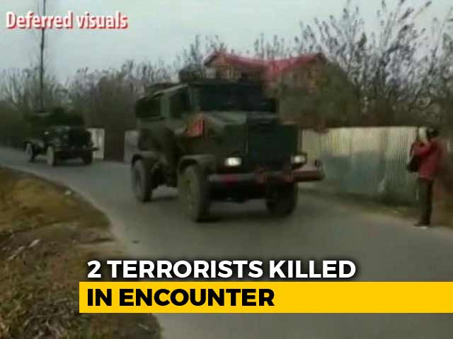 Video : 2 Hizbul Terrorists Shot Dead In Encounter In Jammu And Kashmir's Pulwama