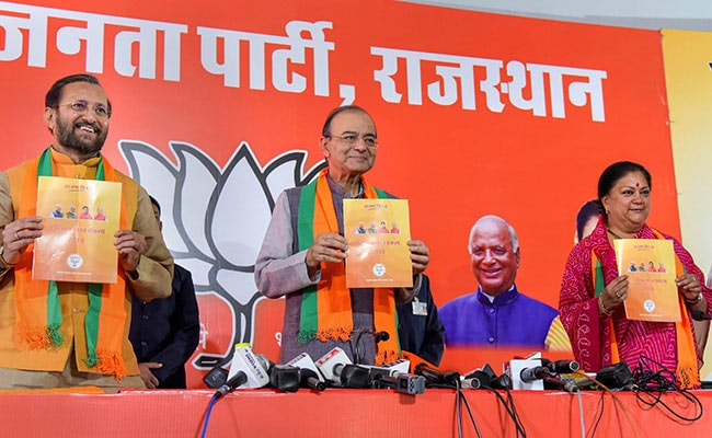 Image result for 50 Lakh Jobs In 5 Years, BJP Promises Ahead Of Rajasthan Polls: 10 Points
