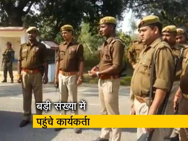 Videos : उद्धव ठाकरे के पहुंचने से पहले किले में तब्दील हुई अयोध्या