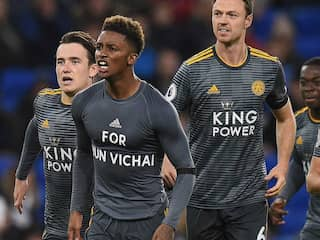"""Watch: Referee Books Leicester Midfielder For Paying """"Emotional Tribute"""" To Late Vichai Srivaddhanaprabha, Gets Slammed On Twitter"""