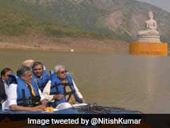 Nitish Kumar Unveils Lord Buddha's 70-Feet Statue In Bihar's Rajgir