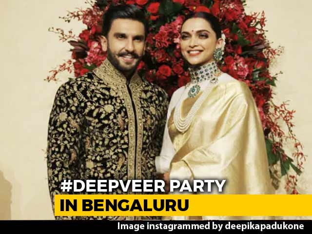 Video : Deepika And Ranveer Make Royal Appearance At Bengaluru Reception