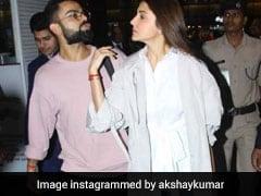 विराट कोहली को देख लग गई फैन्स की भीड़, पत्नी अनुष्का को इस तरह सुरक्षित निकाला एयरपोर्ट से बाहर, देखें VIDEO