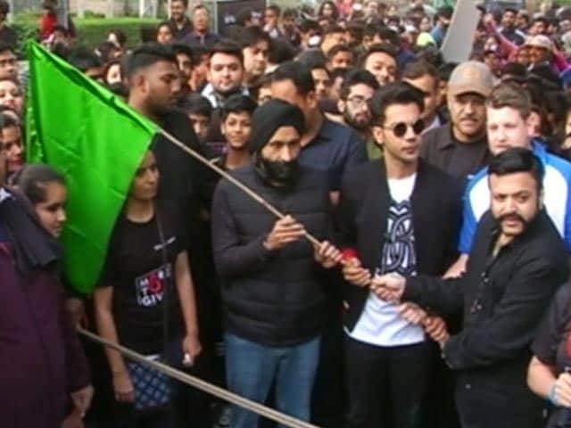 Video : Rajkummar Rao Flags Off Organ Donation Walkathon In Gurugram