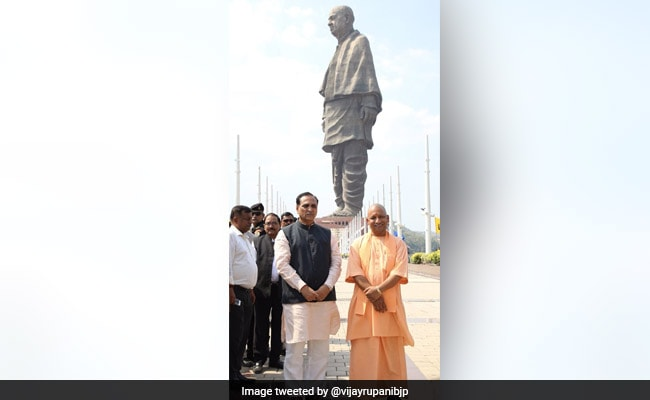 Yogi Adityanath Visits Statue Of Unity, Dodges Question On Ram Temple