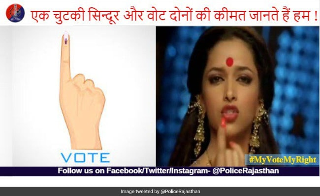 Rajasthan Police Is Urging Citizens To Vote Using This Deepika Padukone Dialogue