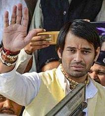 बिहार चुनाव से पहले एक बार फिर 'श्रीकृष्ण की शरण' में मथुरा पहुंचे तेज प्रताप यादव